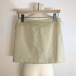Express Faux Suede Beige Mini Skirt